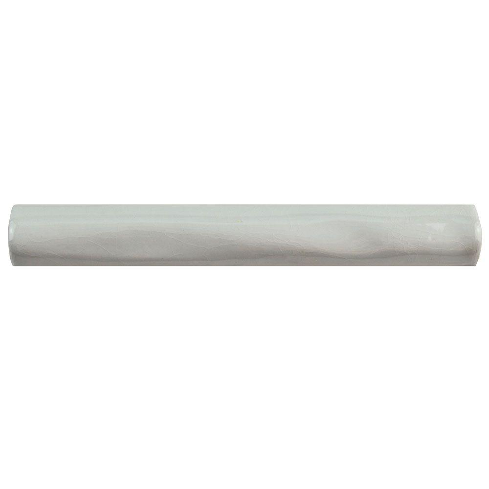 Antic Gris Oscuro Craquelle 3/4 in. x 6 in. Ceramic Torelo
