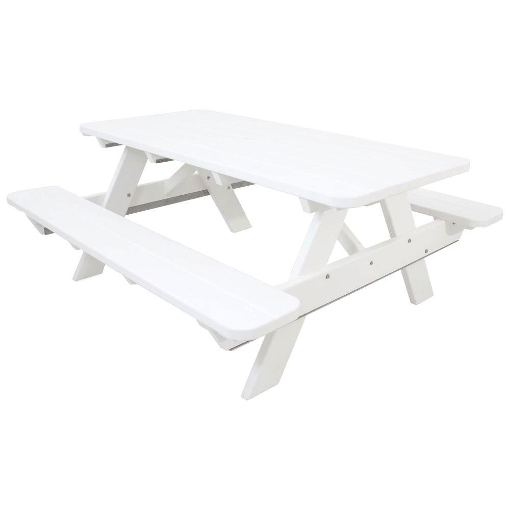 White Picnic Table