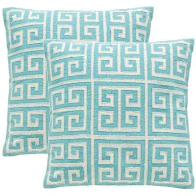 Aqua Blue Throw Pillows Decorative Pillows Home Accents The Simple Embellished Decorative Pillows