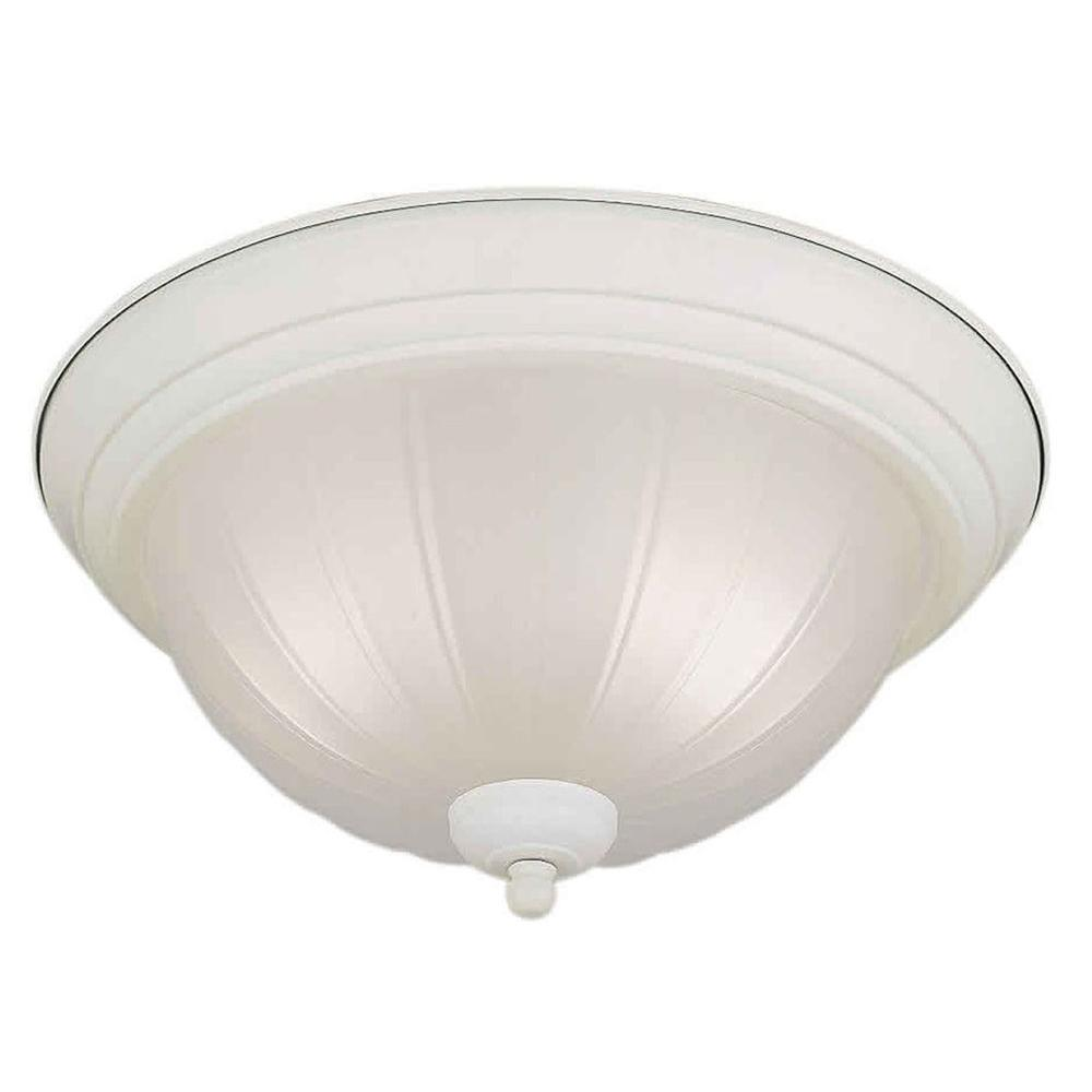 talista 2 light white flush mount with fluted satin etched