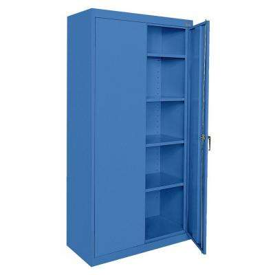 Classic Series 72 in. H x 36 in.W x 18 in. D Steel Frestanding Storage Cabinet with Adjustable Shelves in Blue