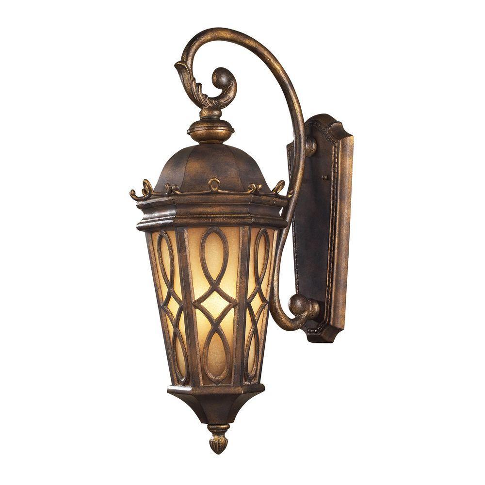 Burlington Junction 3-Light Outdoor Hazelnut Bronze Sconce