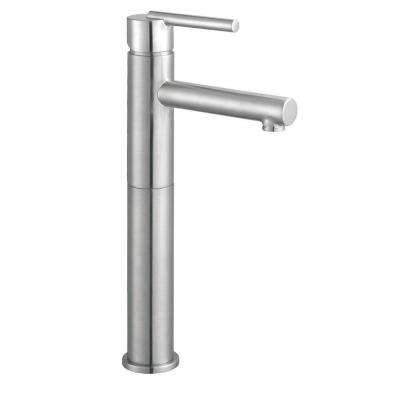 Geneva Single Hole Single-Handle Vessel Bathroom Faucet in Satin Nickel