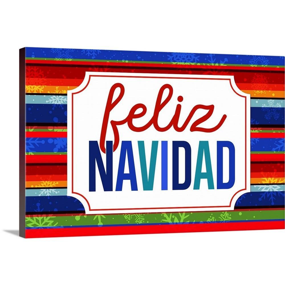 GreatBigCanvas ''Feliz Navidad'' by Inner Circle Canvas Wall Art 2452621_24_36x24