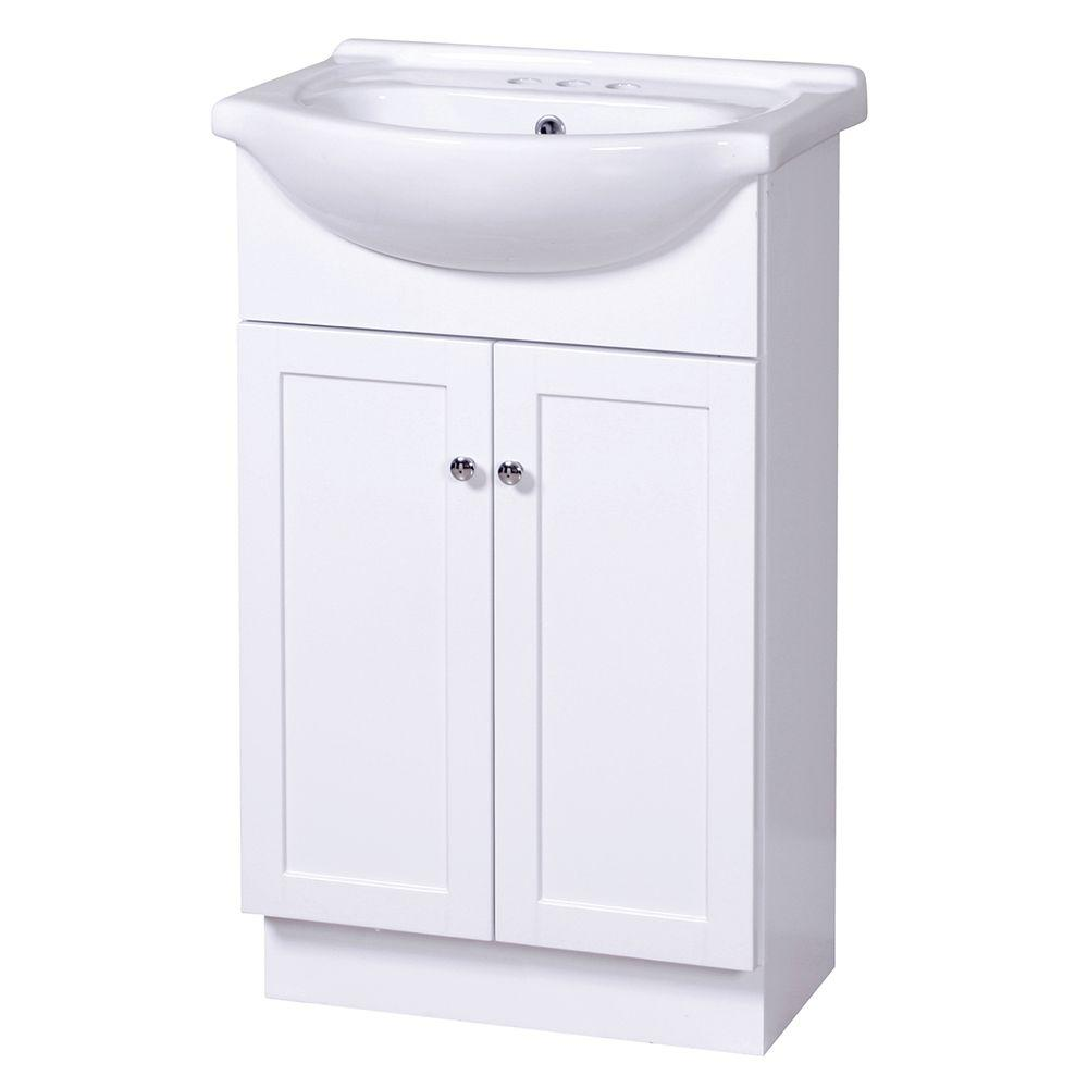 Home Decorators Collection Columbia Euro 21 3 4 In Vanity White With