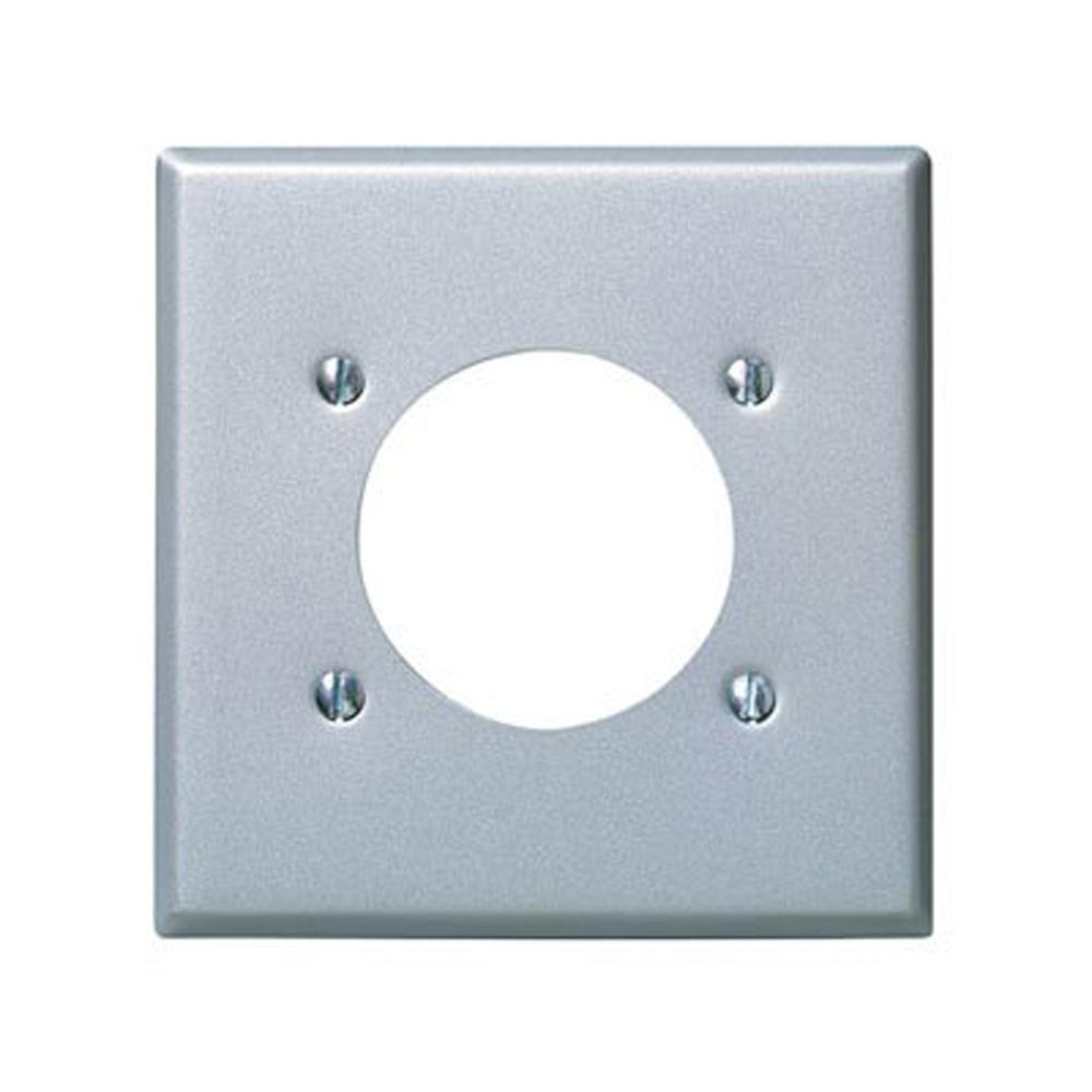 2-Gang Standard Size with 2.15 in. Dia Hole and Power Outlet