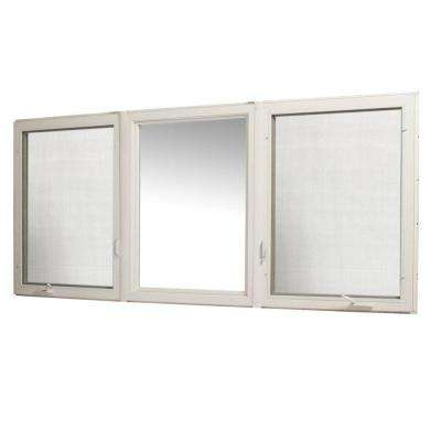 107 in. x 48 in. Vinyl Casement Window with Screen - White