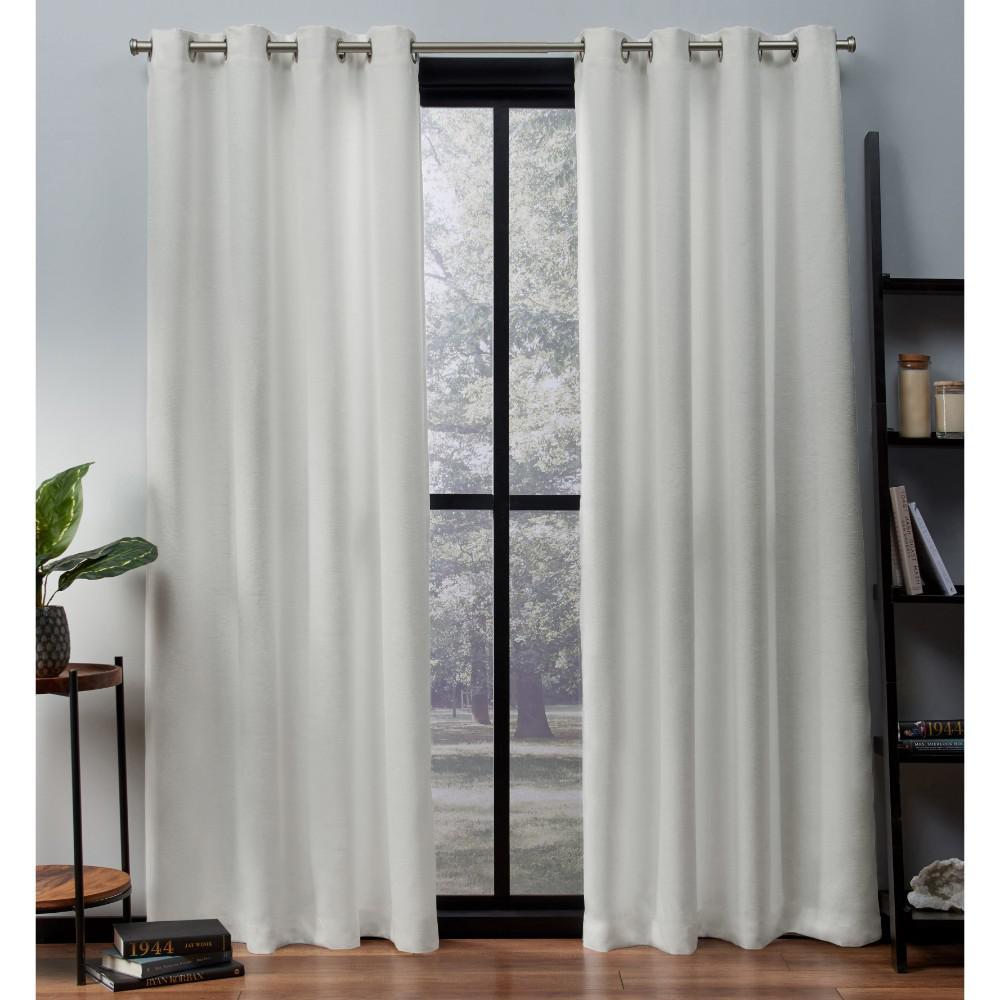 Oxford Vanilla Textured Sateen Thermal Grommet Top Window Curtain