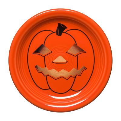 Orange Spooky Glowing Pumpkin Appetizer Plate