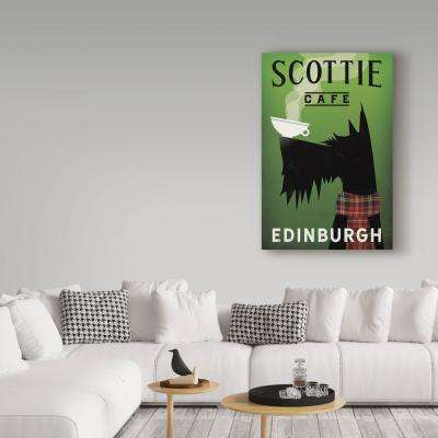 """47 in. x 30 in. """"Scottie Cafe"""" by Ryan Fowler Printed Canvas Wall Art"""