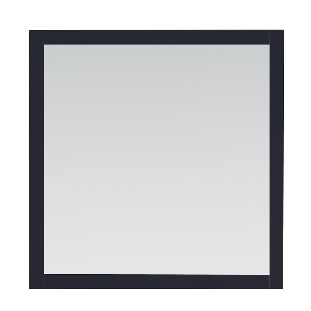 34.00 in. W x 34.00 in. H Framed Rectangular  Bathroom Vanity Mirror in Midnight Blue