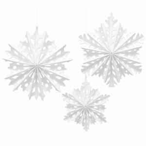 Amscan 16 in  Paper Snowflake Fan Decorating Kit (3-Count, 2-Pack)-290956 -  The Home Depot