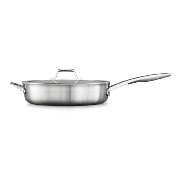 Premier 5 qt. Stainless Steel Saute Pan with Glass Lid