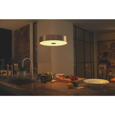 White Ambiance Fair LED Dimmable Smart Suspension Ceiling Light