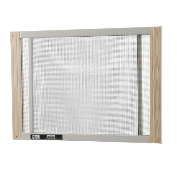 W B Marvin 25 In X 10 In Grey Aluminum Adjustable Window Screen Aws1025 The Home Depot