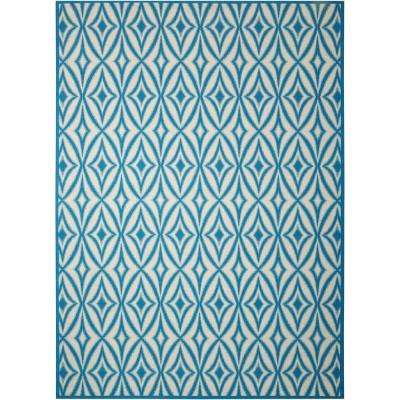 Centro Azure 8 ft. x 11 ft. Indoor/Outdoor Area Rug