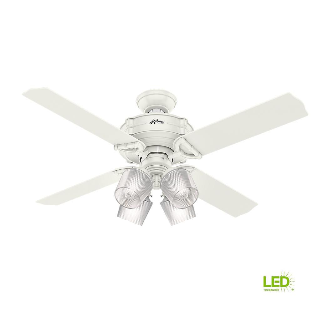 Big Ass Fans L Series 52 In Integrated Led Indoor Caramel White Haiku Ceiling Fan By Fresh With