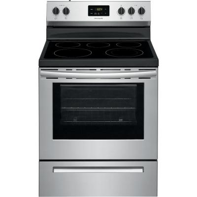 Frigidaire 30 in. 5.3 cu. ft. Rear Control Electric Range in Stainless Steel