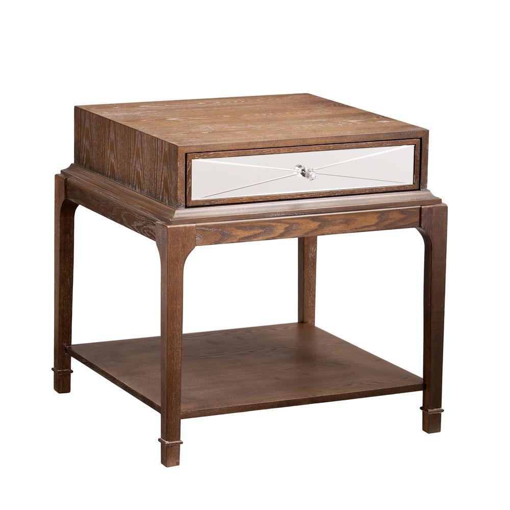 Oak End Tables With Storage ~ Southern enterprises lily burnt oak storage end table