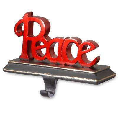 8.7 in. Peace Stocking Holder