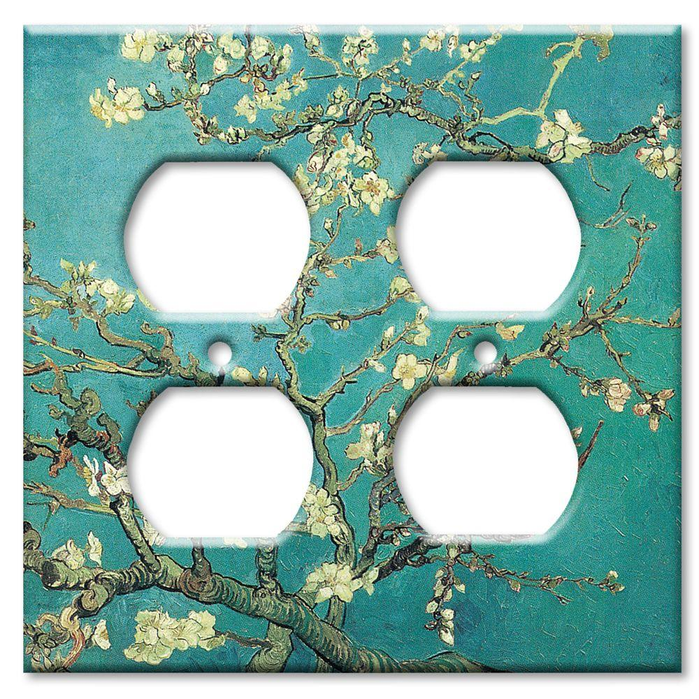Art Plates Van Gogh: Almond Blossoms - Double Outlet Cover