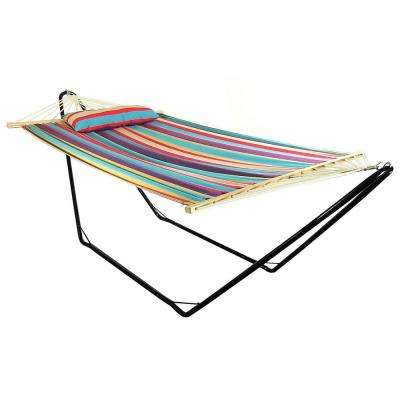 9.75 ft. Fabric Hammock and Pillow with 10 ft. Stand in Wildberry