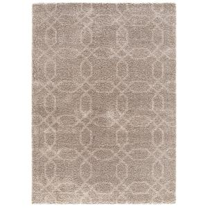 Concord Global Trading Plush Geo Beige 6 Ft 7 In X 9 Ft