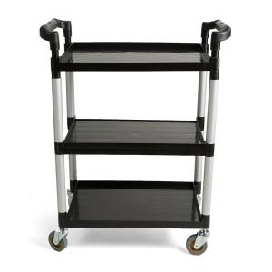862fbbaa9f1f Mind Reader Foldable Push Cart Pallet Roller Dolly with Front Swivel ...