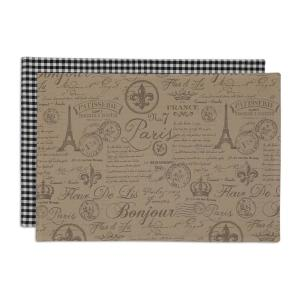 Design Imports Brown French Flourish Printed Placemat (Set of 6) by Design Imports