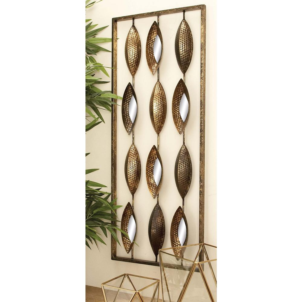 14 in. x 34 in. Assorted Contemporary Iron Pods Diptych Wall