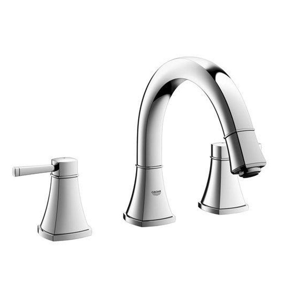 GROHE Grandera 2-Handle Deck-Mount Roman Bathtub Faucet in StarLight Chrome