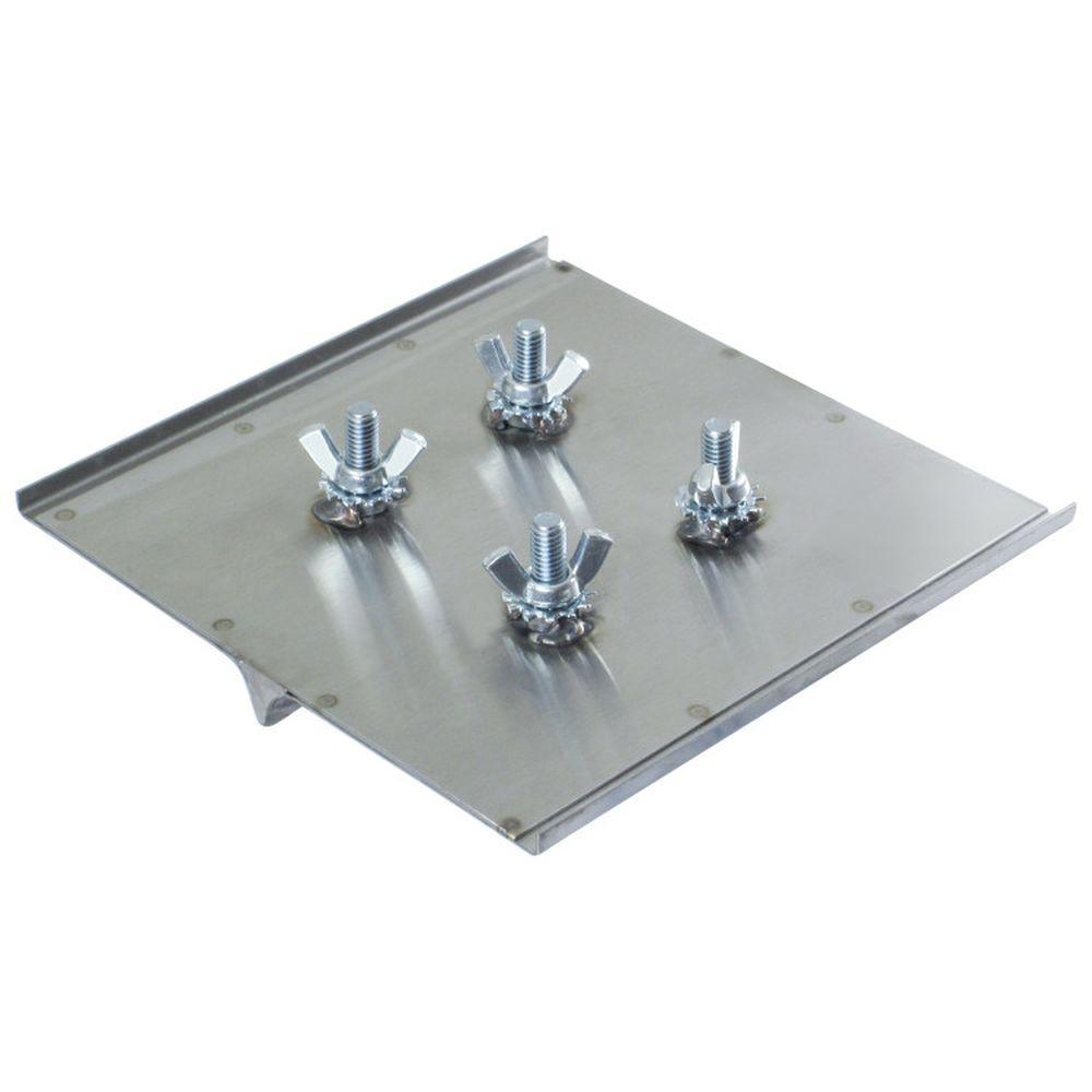 8 in. x 8 in. 1/2 R, 7/8 D Steel Walking Groover Without Bracket