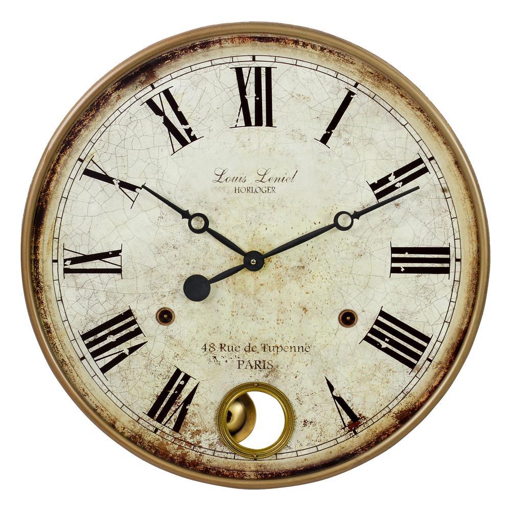Raleigh Brown Pendulum Wall Clock