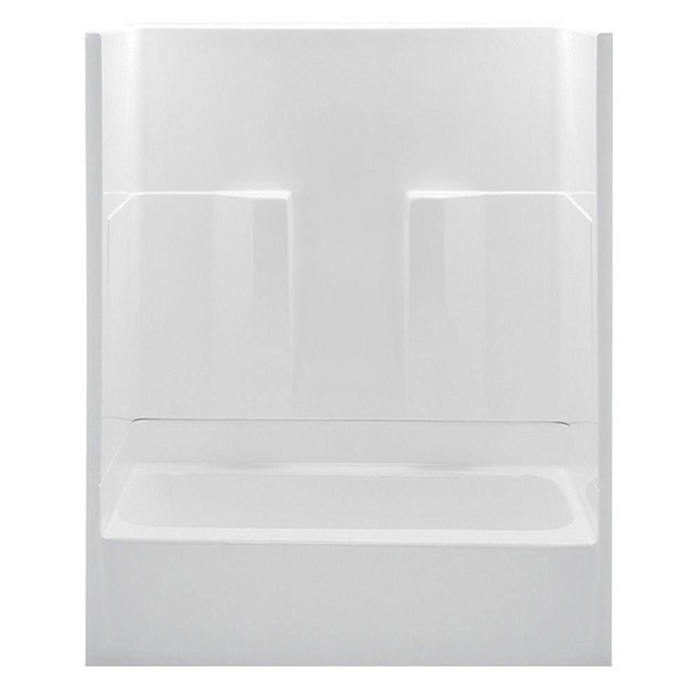 aquatic remodeline smooth wall 60 in x 30 in x 72 in 2piece bath and shower kit with right drain in the home depot
