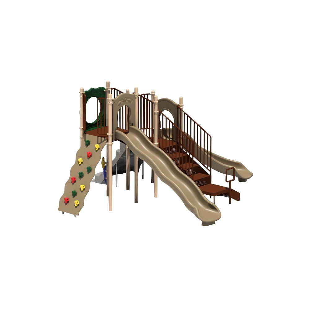 Ultra Play UPlay Today Aiden's Pass (Natural) Commercial Playset with Ground Spike