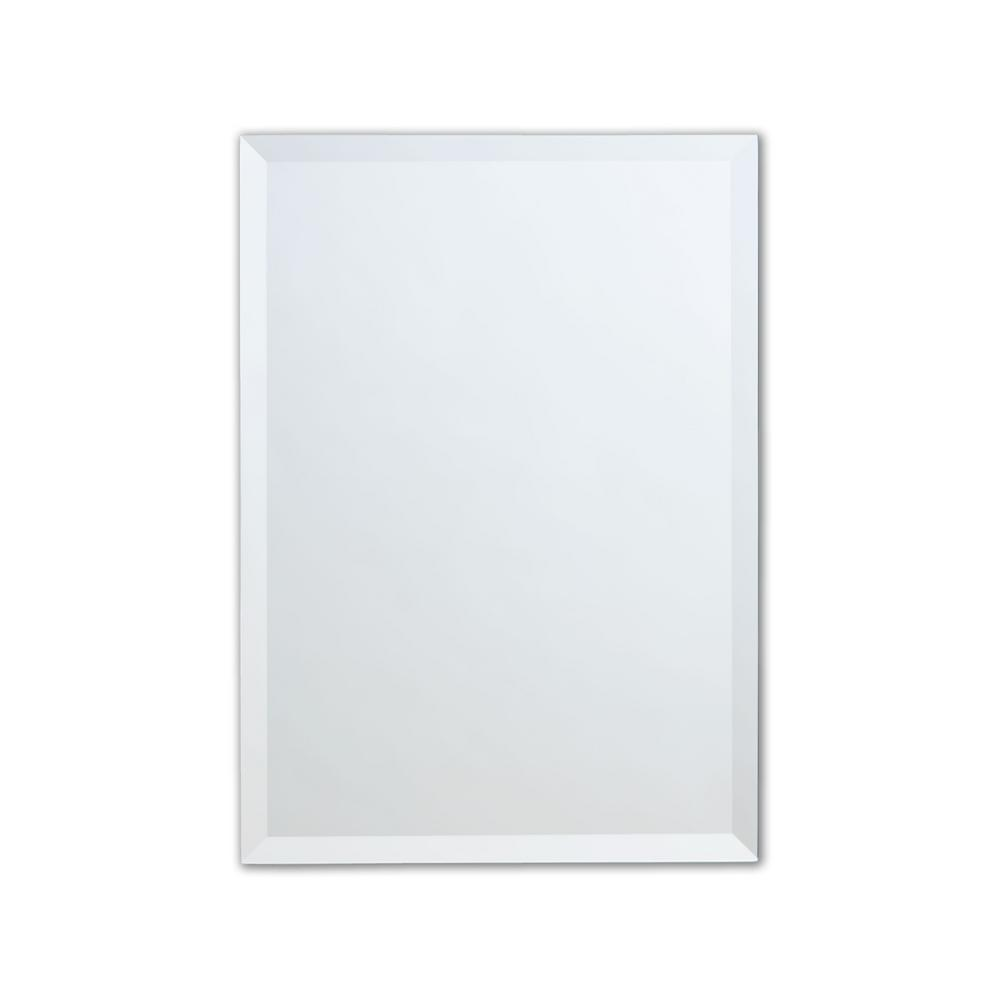 24 in. x 36 in. Single Frameless Beveled Edge Copper-Free Rectangle Mirror
