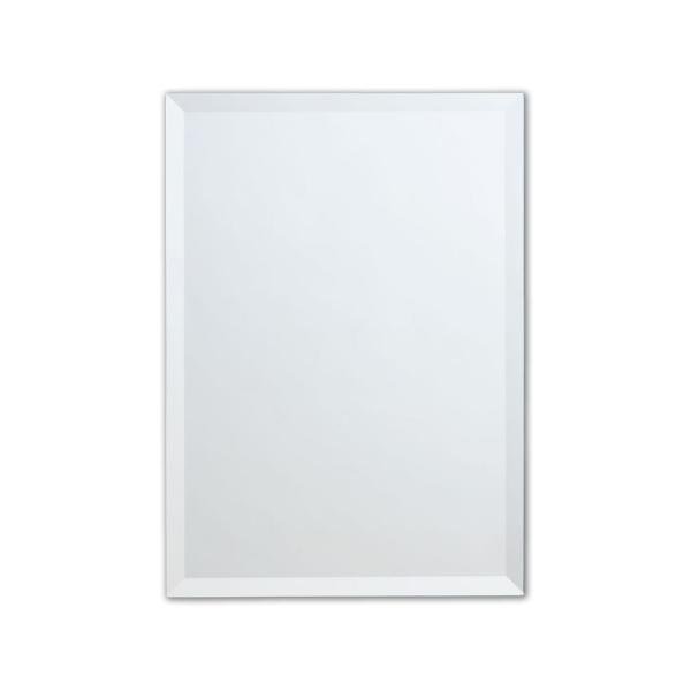 24 in. W x 36 in. H Frameless Copper-Free Rectangular Beveled Edge Bathroom Vanity Mirror