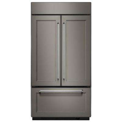 36 in. W 20.8 cu. ft. Built-In French Door Refrigerator in Panel Ready