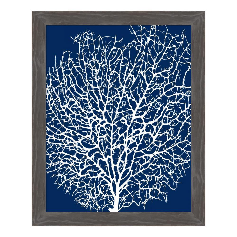 Amanti art navy coral ii by sabine berg framed canvas wall art