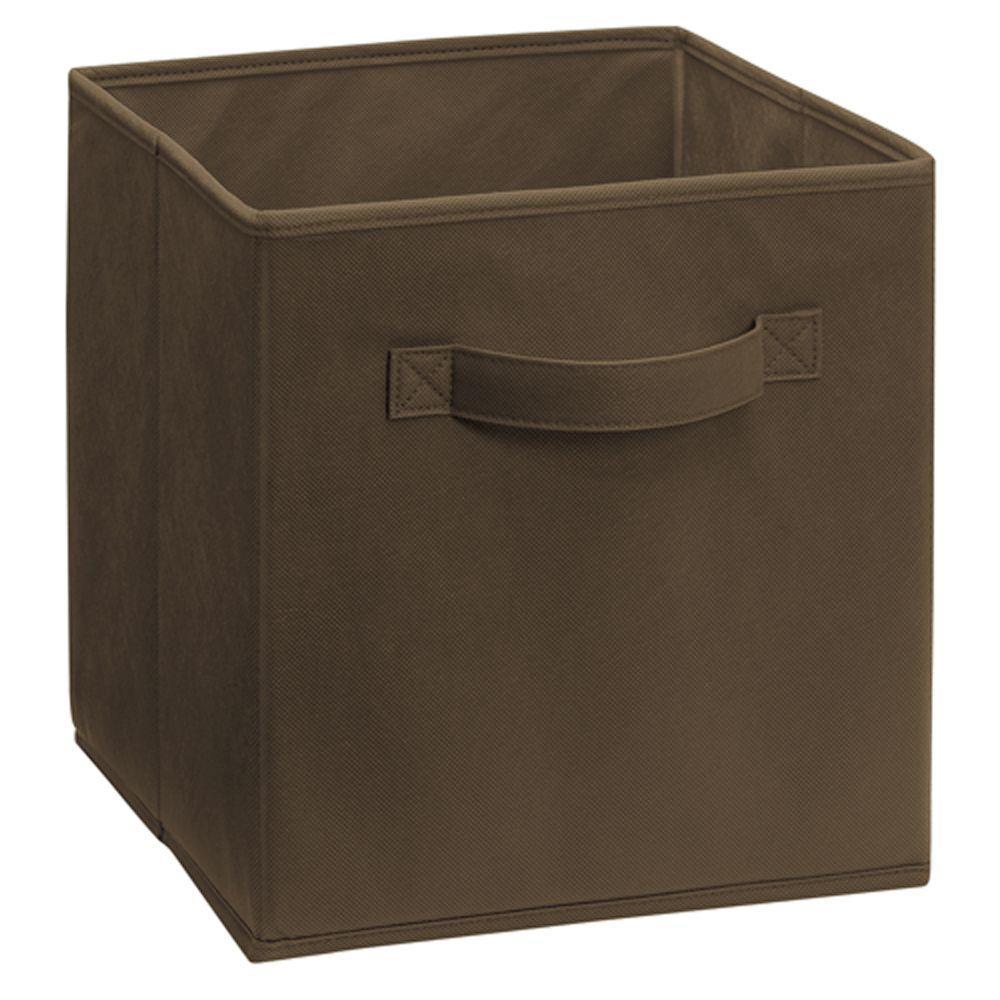 Cubeicals 11 in. H x 10.5 in. W x 10.5 in. D Fabric Storage Bin in Canteen