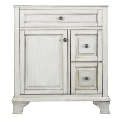 Corsicana 30 in. W x 21.5 in. D Vanity Cabinet Only in Antique White