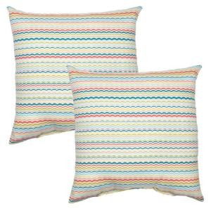 Rigby Stripe Square Outdoor Throw Pillow (2-Pack)