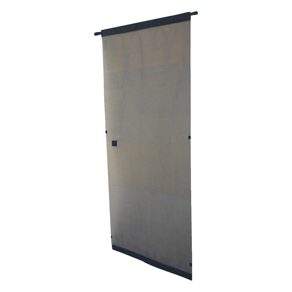 Snavely Forest 38 in  x 80 in  Black Easy to Install Instant Screen Door  with Hardware Included