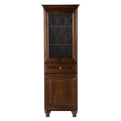 Templin 24 in. W x 70 in. H x 16 in. D Bathroom Linen Storage Floor Cabinet in Coffee