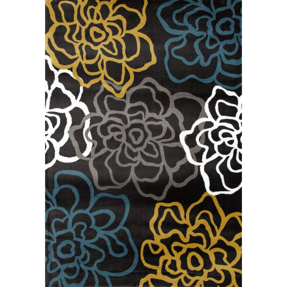 Null contemporary modern floral flowers 5 3x7 3 yellow gray area rug contemporary modern floral flowers 5 3x7 3 yellow gray mightylinksfo