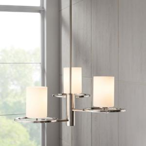 Silas Peak 3-Light Polished Nickel and Brushed Nickel Chandelier