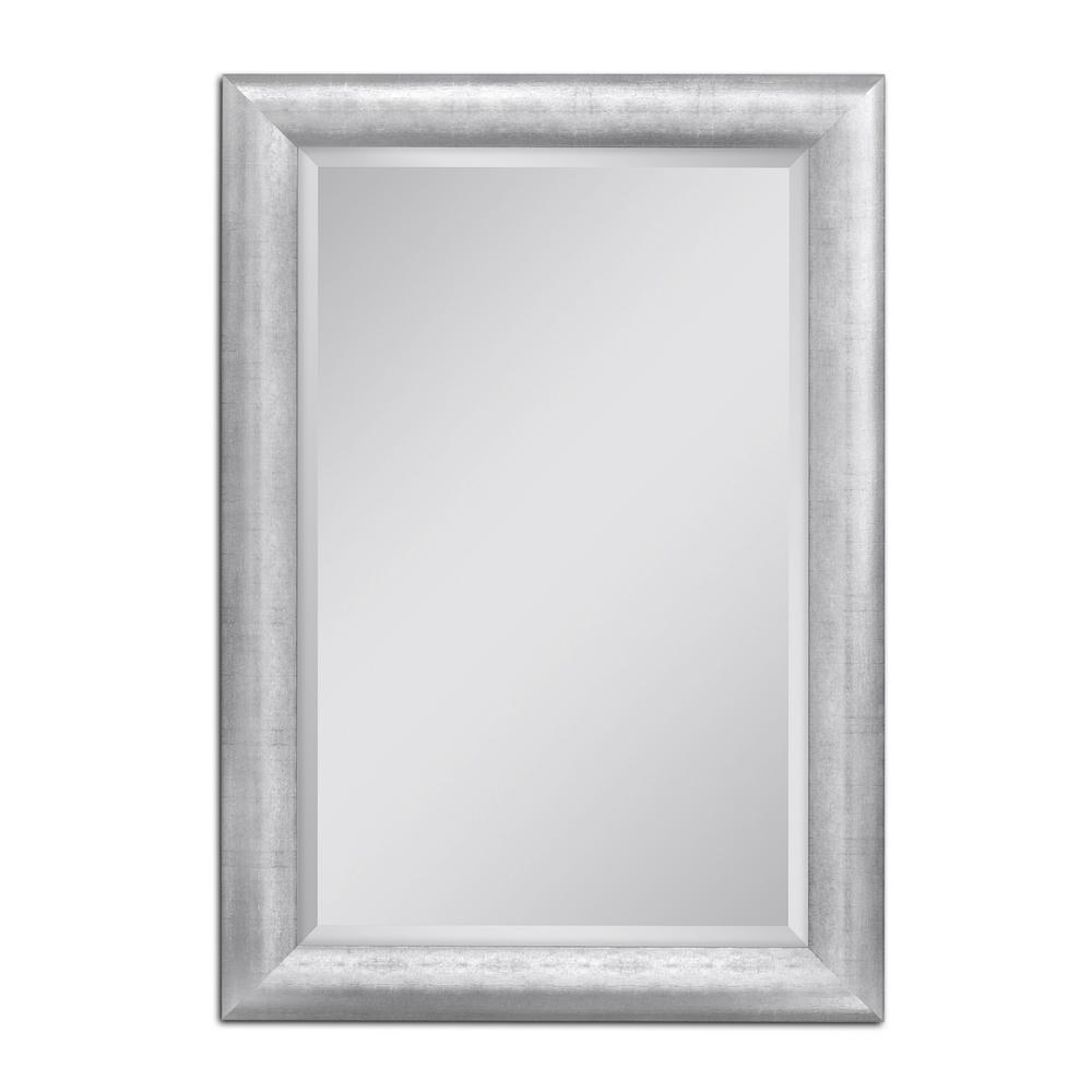 deco mirror pave weave 30 in x 42 in wall mirror in chrome 8110 the home depot. Black Bedroom Furniture Sets. Home Design Ideas