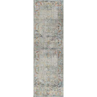 Gray Runner Low Pile Area Rugs Rugs The Home Depot