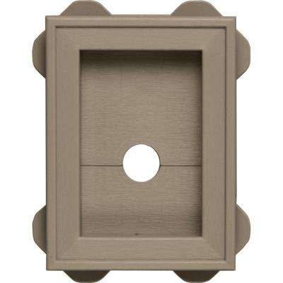 5.0625 in. x 6.75 in. #095 Clay Wrap Around Universal Mounting Block