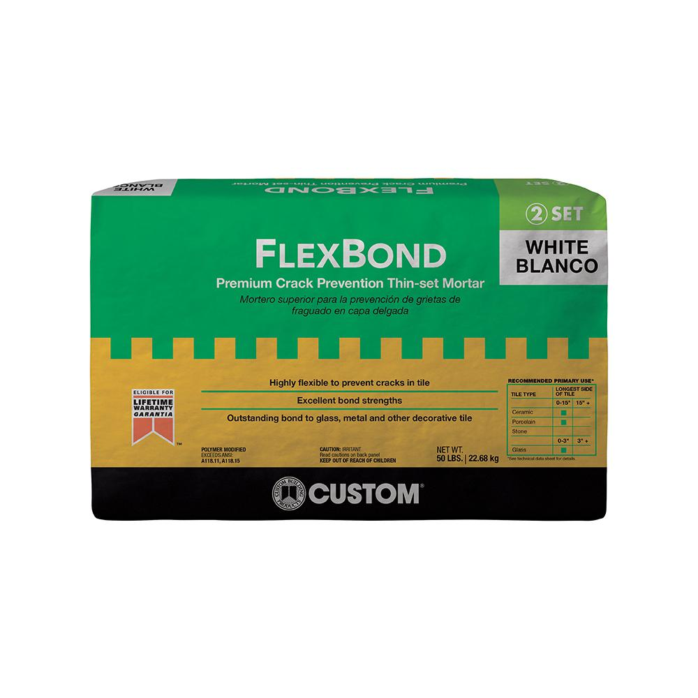 Custom Building Products FlexBond White 50 lb. Crack Prevention Mortar